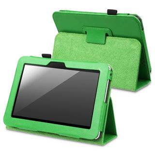 BasAcc Green Leather Case with Stand for  Kindle Fire HD 7 inch
