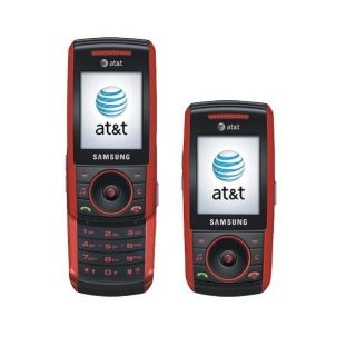 Samsung A737 Red GSM Unlocked Slider Cell Phone
