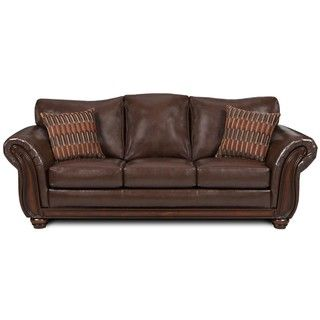 Simmons Santa Monica Vintage Bonded Leather Sofa