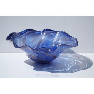 Hand blown Blue Ocean Glass Bowl