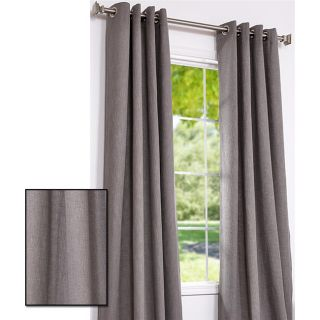 Dark Grey Cotton Linen 108 inch Grommet Curtain Panel