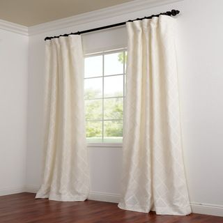 Exclusive Patterned Faux Silk 108 inch Curtain Panel