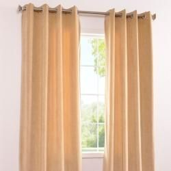 Signature Grommet Wheat Velvet 108 Inch Curtain Panel