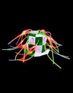 St Patricks Day Green & White Light Up Tentacle Costume