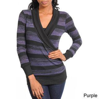 Stanzino Womens Striped Sweater Top