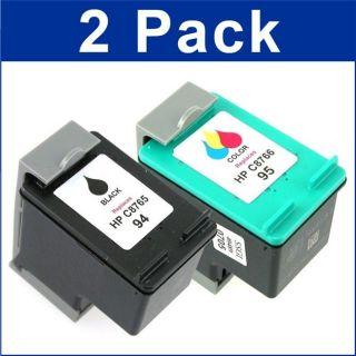 HP 94/95 Black/Color Ink Cartridges (Remanufactured) (Pack of 2