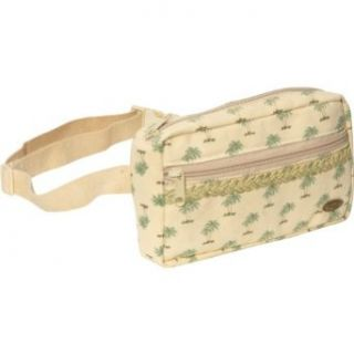 Cappelli Palm Print Cotton Fanny Pack (Natural) Clothing