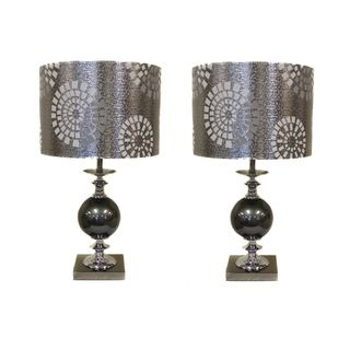 Casa Cortes Malibu Metallic 22 inch Table Lamps (Set of 2)