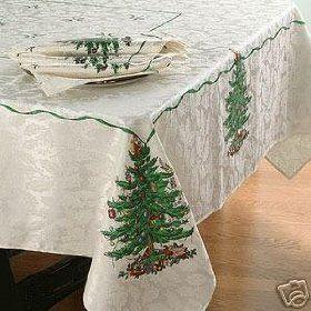 Spode Christmas Tree Tablecloth 60 x 102