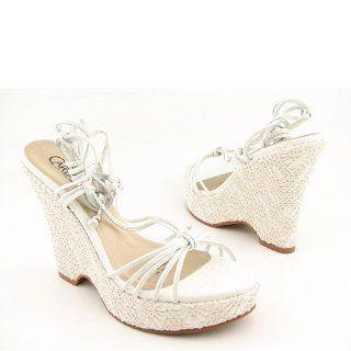 SANTANA Webbed White Platforms Shoes Womens 8 CARLOS SANTANA Shoes