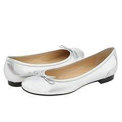Christin Michaels Samara Silver Calf Flats   Size