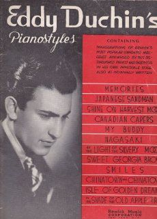 EDDY DUCHINS PIANO STYLES TRANSCRIPTIONS OF REMICKS MOST POPULAR