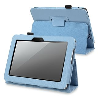 BasAcc Blue Leather Case with Stand for  Kindle Fire HD 7 inch