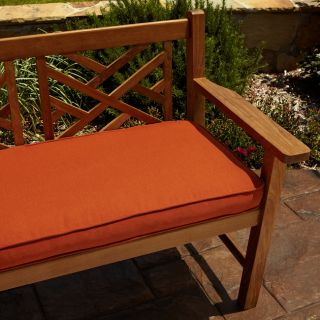 Clara Rust 48 inch Outdoor Sunbrella Bench Cushion