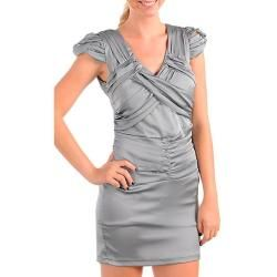 Stanzino Womens Silver Party Dress