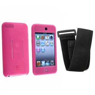 BasAcc Pink/Black Skin Case w/ Armband for iPod Touch