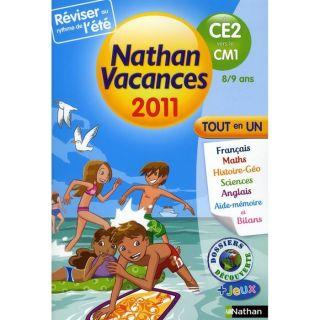 SCOLAIRE   ETUDIANT NATHAN VACANCES; du CE2 vers le CM1 ; 8/9 ans (