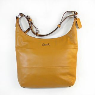 Coach Saddle Pieced Leather Signature Duffle Handbag