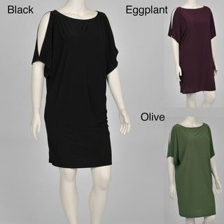 Tiana B. Womens Plus size Cold Shoulder Jersey Dress
