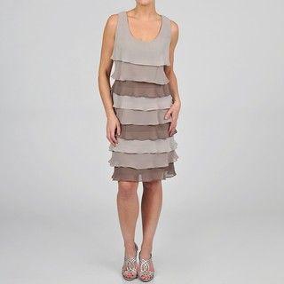 Fashions Womens Tiered Chiffon Dress