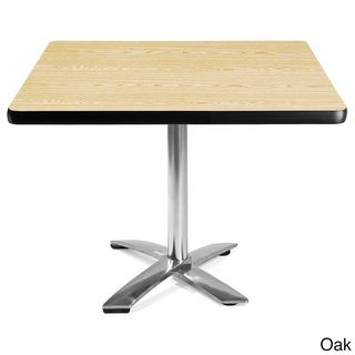 OFM 36 inch Square Cafe height Laminate Table with Chrome Base