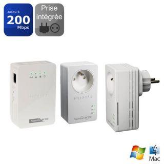 COURANT PORTEUR   CPL Netgear Pack 2 CPL + Borne Wifi XAVB1601XAVN2001
