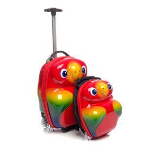 Trendykid Popo Parrot 2 Piece Kids Luggage Set