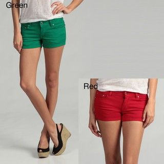 51 Juniors Colored Denim Stretch Shorts