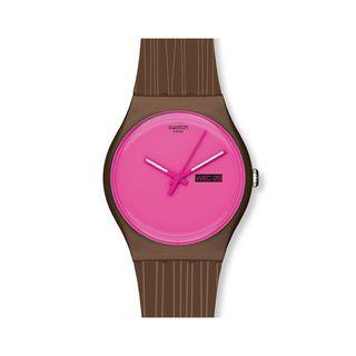 Swatch Womens Brown Plastic Wonder Drift Watch