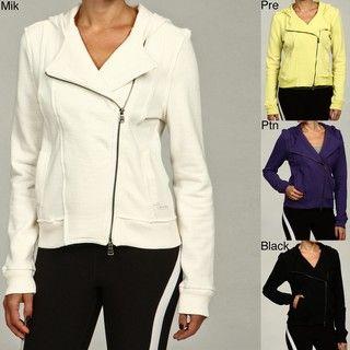 Calvin Klein Performance Womens Knit Hooded Moto Jacket
