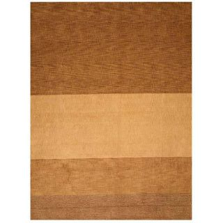 Yukon Light Brown Wool Rug (119 x 149)