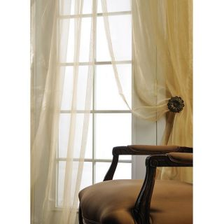 Ivory Silk Organza 120 inch Sheer Curtain Panel