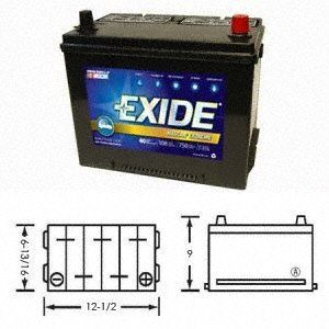 Exide 27F E108 NASCAR Extreme Battery :  : Automotive