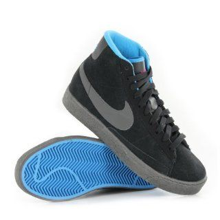 Nike Blazer Mid Black Grey Youths Trainers Size 4 US Shoes