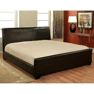 Abbyson Living Monaco Dark Brown Bi cast Leather Queen size Bed