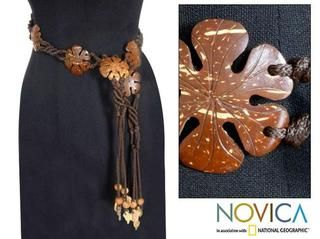 Coconut Shell Blossoms Belt (Thailand)