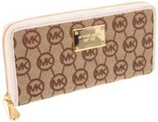 Michael Kors Monogram Wallet,Beige/Ebony/Vanilla,One Size Shoes