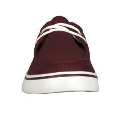 Lugz Mens Sparks Canvas Burgundy/ White Shoes
