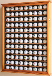 108 Golf Ball Display Case Cabinet Wall Rack Holder w/ UV