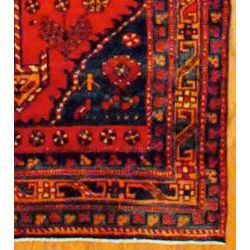 Persian Hand knotted Red/ Orange Tribal Hamadan Wool Rug (39 x 123