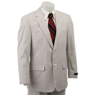 FINAL SALE Haspel Mens Grey/ White Seersucker Two button Suit