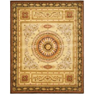 Asian Hand knotted Savonnerie Beige Wool Rug (8 x 10)
