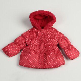 Pink Platinum Toddler Girls Red Polka Dot Puffer Jacket