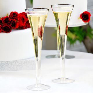 Trumpet Flare Champagne Flutes (Set of 2)