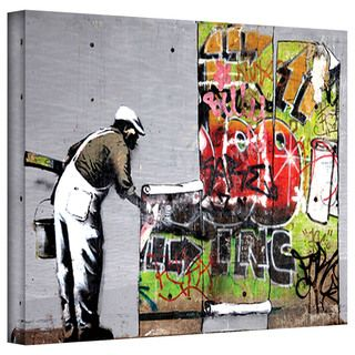 Art Wall Banksy Grafitti Cover Gallery wrapped Canvas