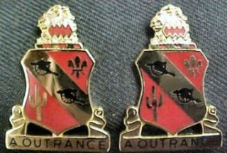 112th Field Artillery Distinctive Unit Insignia   Pair
