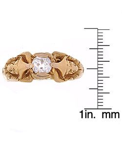 18k Gold 7/8ct Old Mine Diamond Jester Ring