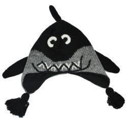 Kids Wool Fleece Lined Shark Beanie (Nepal)