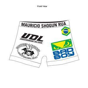BAD BOY SHOGUN RUA UFC 113 VALE TUDO SHORT SIZE XX LRG
