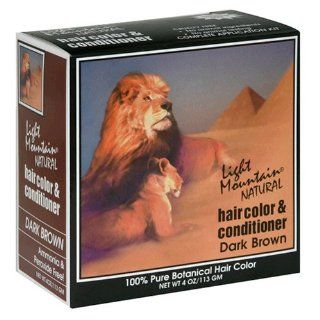 Hair Color & Conditioner, Dark Brown, 4 oz (113 g) (Pack of 3) Beauty